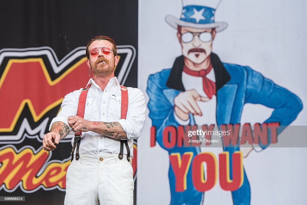 Jesse Hughes of Eagles of Death Metal performs on stage on Day 2 at Reading Festival 2016 on August 27, 2016 in Reading, England.