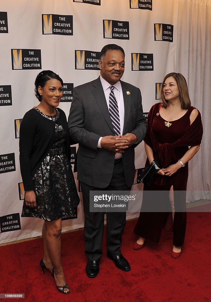 Jesse Jackson (C) and Loretta Sanchez (R) attend The Creative Coalition's 2013 Inaugural Ball at the Harman Center for the Arts on January 21, 2013 in Washington, United States.