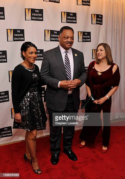 Jesse Jackson and Loretta Sanchez attend The Creative Coalition's 2013 Inaugural Ball at the Harman Center for the Arts on January 21 2013 in...