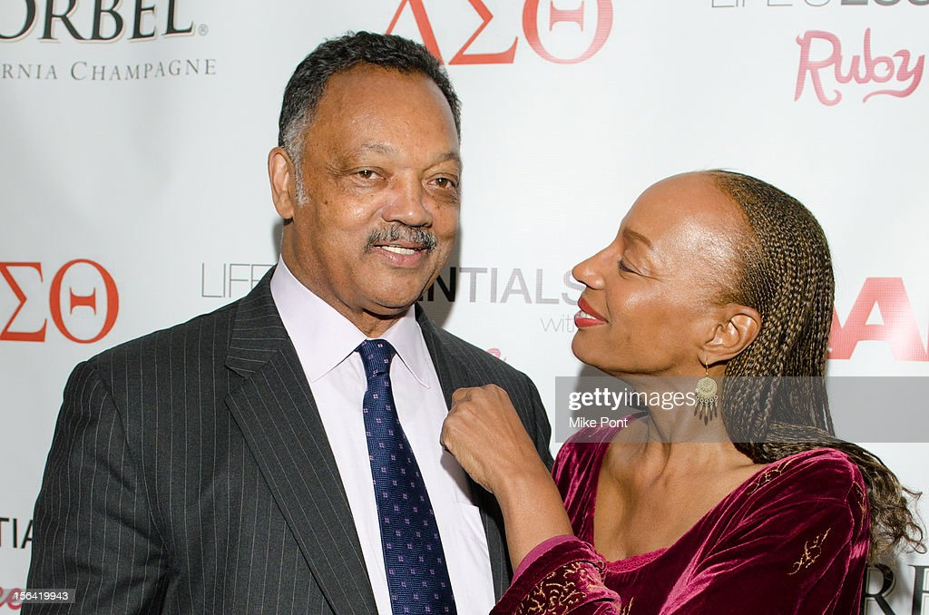 Jesse Jackson and <a gi-track='captionPersonalityLinkClicked' href=/galleries/search?phrase=Susan+L.+Taylor&family=editorial&specificpeople=868414 ng-click='$event.stopPropagation()'>Susan L. Taylor</a> attend the 'Life's Essentials With Ruby Dee' screening at The Schomburg Center for Research in Black Culture on November 14, 2012 in New York City.