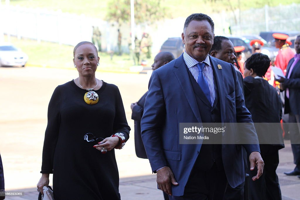 Jesse Jackson arrives at the Inauguration ceremony of President Uhuru Kenyatta on April 9, 2013 in Nairobi, Kenya. Kenyatta received masses of support from the citizens of Kenya despite being under investigation for crimes against humanity.