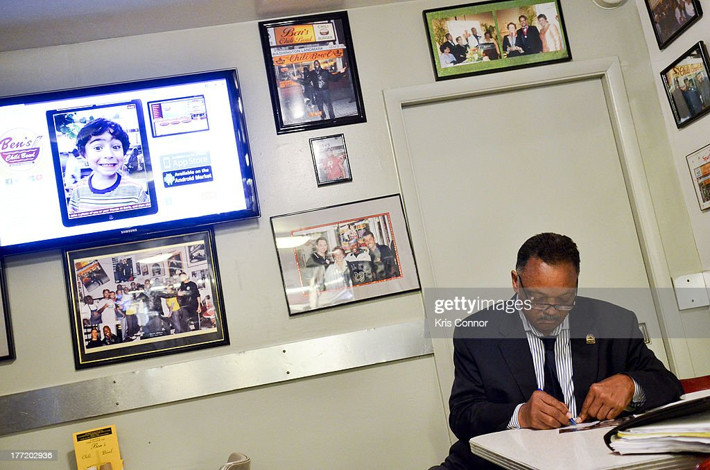Jesse Jackson attends the 55th Anniversary of Ben's Chili Bowl on August 22, 2013 in Washington, DC.