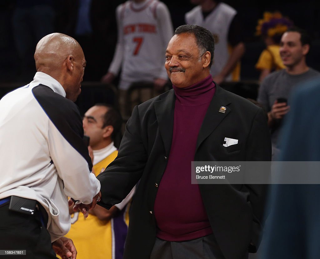 Jesse Jackson attends the game between the New York Knicks and the Los Angeles Lakers at Madison Square Garden on December 13, 2012 in New York City.