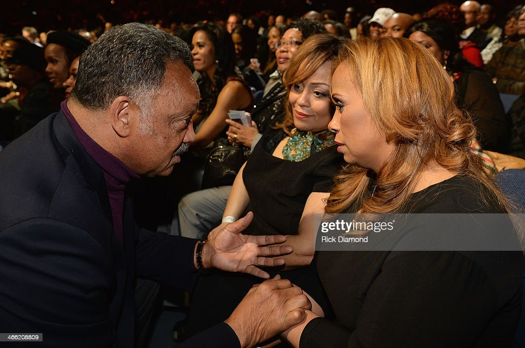 Jesse Jackson, Founder and Executive Producer of the Super Bowl Gospel Celebration, Melanie Few- Harrison and Toya Beasley at the Super Bowl Gospel Celebration 2014 at The Theater at Madison Square Garden on January 31, 2014 in New York City.