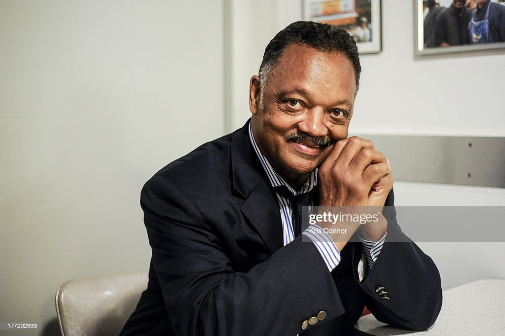 Jesse Jackson poses for a portrait during the 55th Anniversary of Ben's Chili Bowl on August 22, 2013 in Washington, DC.
