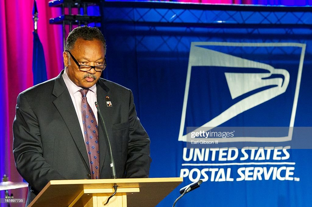 Jesse Jackson speaks at the U.S Postal Services Stamp dedication to Ray Charles at The GRAMMY Museum on September 23, 2013 in Los Angeles, California.