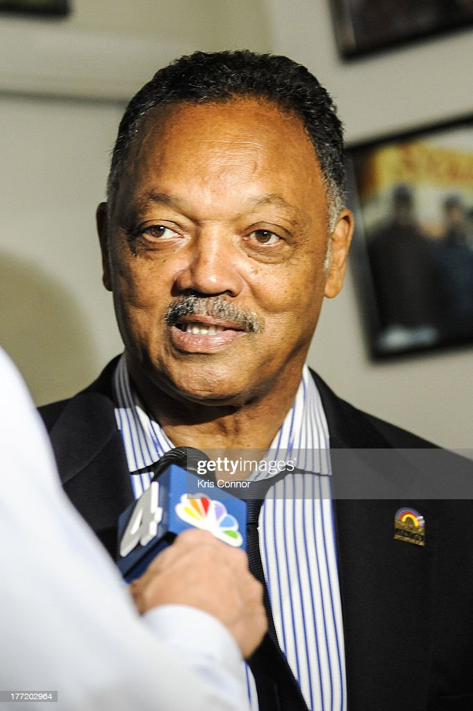 Jesse Jackson speaks during the 55th Anniversary of Ben's Chili Bowl on August 22, 2013 in Washington, DC.