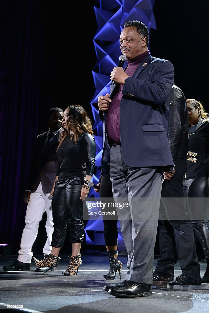 Jesse Jackson speaks onstage at the Super Bowl Gospel Celebration 2014 at The Theater at Madison Square Garden on January 31, 2014 in New York City.