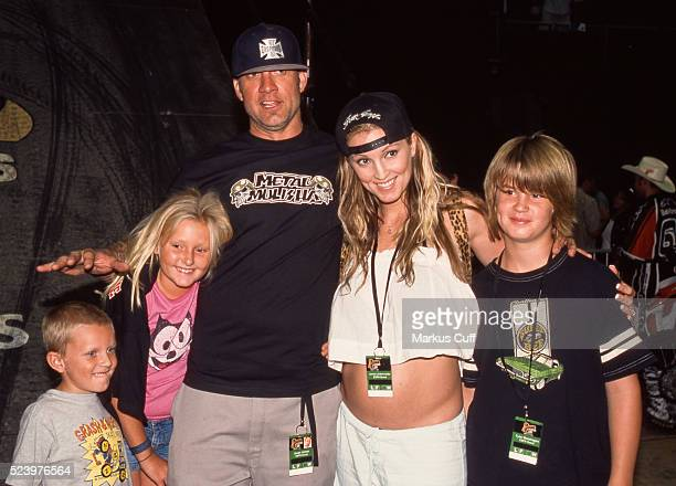 Jesse James and second wife Janine Lindemulder at X Games