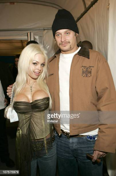Jesse Jane and Kid Rock during 2004 MTV European Music Awards Backstage And Audience at Tor di Valle in Rome