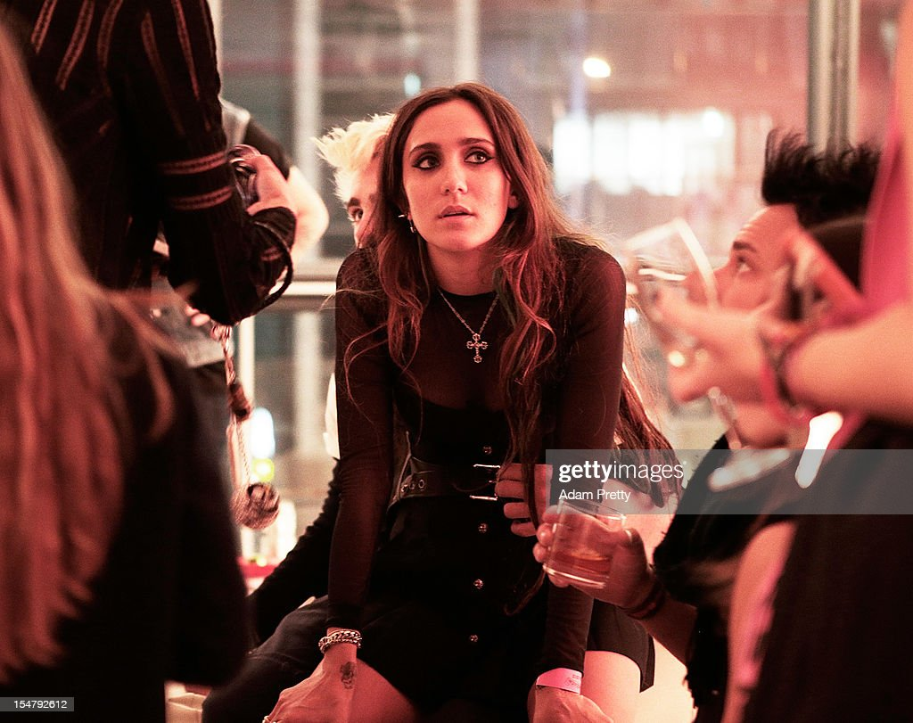 Jesse Jo Stark enjoys the party during the ELLEgirl Night in association with Chrome Hearts at Fiat Caffe on October 26, 2012 in Tokyo, Japan.