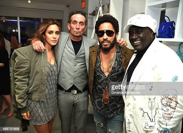Jesse Jo Stark Richard Stark Lenny Kravitz and Moko attend Chrome Hearts Celebrates Art Basel With Laduree Sean Kelly And A Live Performance By...