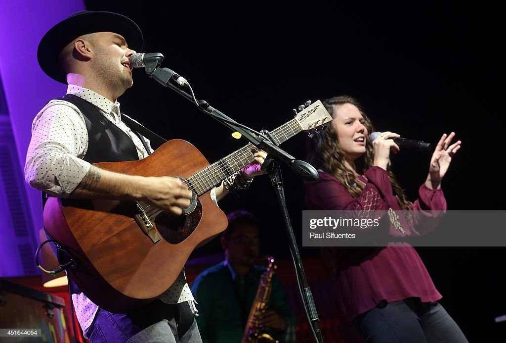 Jesse & Joy performs onstage during the Latin GRAMMY Acoustic Session at Museo Pedro de Osma on July 2, 2014 in Lima, Peru.