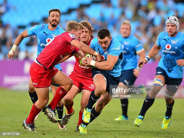 Jesse Kriel of the Bulls in action during the Super Rugby match between Vodacom Bulls and Reds at Loftus Versfeld on April 16 2016 in Pretoria South...