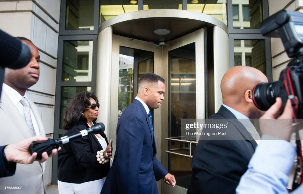 Jesse L. Jackson Jr. was sentenced to 2 1 / 2 years in prison Wednesday for stealing hundreds of thousands of dollars in campaign money to fund an extravagant lifestyle over many years. His wife, Sandra, was sentenced to one year. Photo by Sarah L. Voisin/The Washington Post via Getty Images)