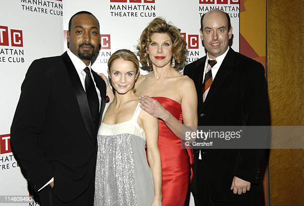 Jesse L Martin Kate Reinders Christine Baranski and Christopher Ashley director
