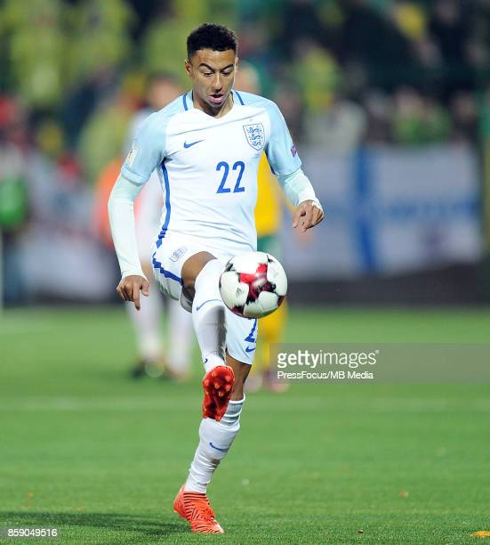 Jesse Lingard during the FIFA 2018 World Cup Qualifier between Lithuania and England on October 8 2017 in Vilnius Lithuania