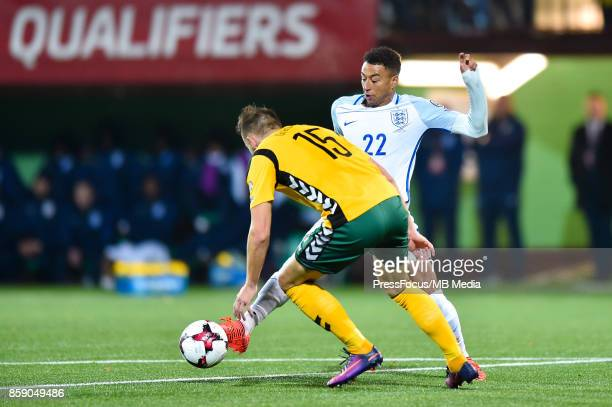 Jesse Lingard of England during the FIFA 2018 World Cup Qualifier between Lithuania and England on October 8 2017 in Vilnius Lithuania