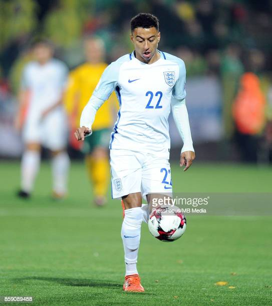 Jesse Lingard of England in action during the FIFA 2018 World Cup qualifier between Lithuania and England on October 8 2017 in Vilnius Lithuania