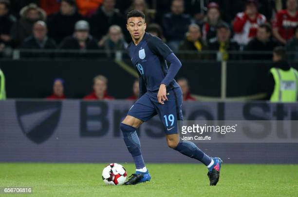 Jesse Lingard of England in action during the international friendly match between Germany and England at Signal Iduna Park on March 22 2017 in...