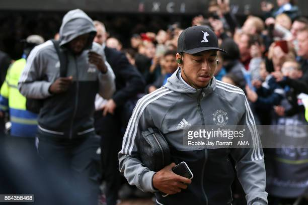 Jesse Lingard of Manchester United arrives prior to the Premier League match between Huddersfield Town and Manchester United at John Smith's Stadium...