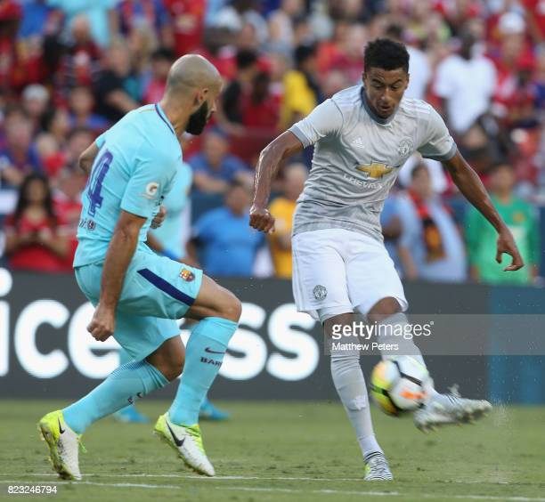 Jesse Lingard of Manchester United in action with Javier Mascherano of Barcelona during the International Champions Cup 2017 preseason friendly match...