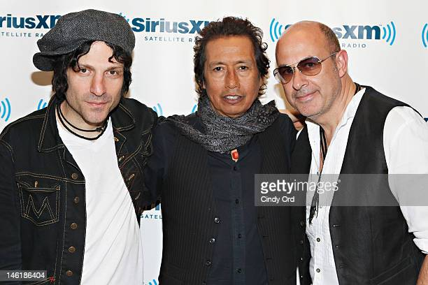 Jesse Malin Alejandro Escovedo and John Varvatos visit the SiriusXM Studio on June 11 2012 in New York City