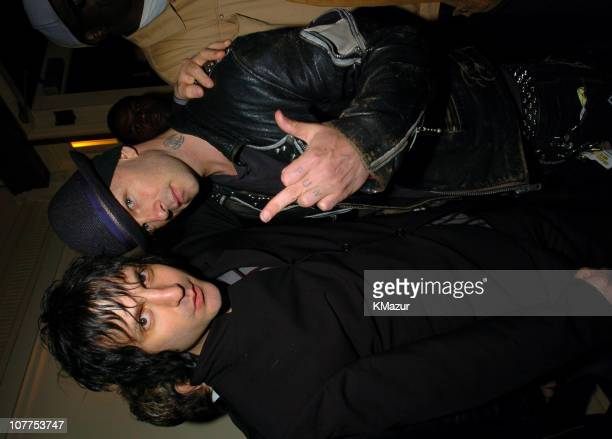 Jesse Malin and Tim Armstrong of Rancid during 3rd Annual Tribeca Film Festival 'Coffee and Cigarettes' After Party at City Hall Restaurant in New...