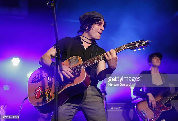 Jesse Malin performs onstage at John Varvatos Bowery Live Presents The Gaslight Anthem on August 7 2014 in New York City