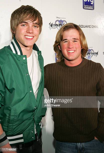 Jesse McCartney and Haley Joel Osment during Playstation 2's 'Kingdom Hearts II' Launch Party Red Carpet and Inside at Astra Restaurant in West...