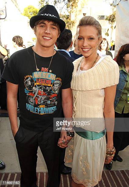 Jesse McCartney and Katie Cassidy during Nickelodeon's 19th Annual Kids' Choice Awards Orange Carpet at Pauley Pavillion in Westwood California...
