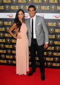 Jesse Metcalf and Cara Santana attend a party to celebrate the new Channel 5 television series of 'Dallas' at Old Billingsgate on August 21 2012 in...