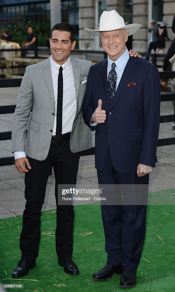 Jesse Metcalf and Larry Hagman attend the launch party of Dallas at Old Billingsgate