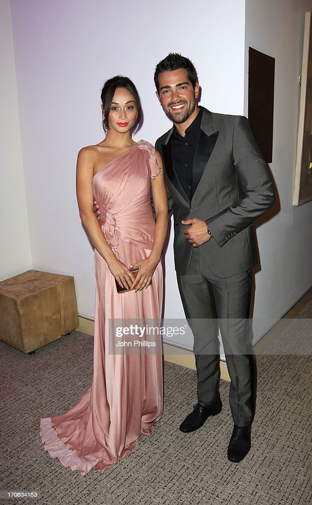 Jesse Metcalfe and Cara Santana attend the Affinity Real Estate Shooting Stars Benefit closing Ball at The Grove Hotel on June 15, 2013 in Hertford, England.