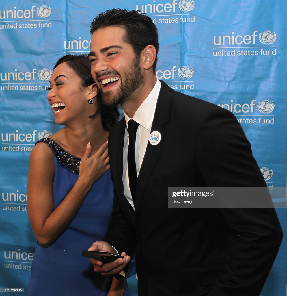 Jesse Metcalfe and Cara Santana on the red carpet at The UNICEF Audrey Hepburn Society Ball at Wortham Center Brown Theater on September 6, 2013 in Houston, Texas.