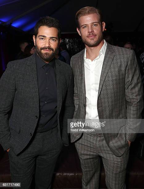 Jesse Metcalfe and Trevor Donovan attend the Hallmark Channel And Hallmark Movies And Mysteries Winter 2017 TCA Press Tour at The Tournament House on...