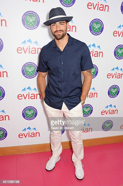 Jesse Metcalfe attends the evian Live Young suite on the opening day of Wimbledon at the All England Lawn Tennis and Croquet Club on June 23 2014 in...