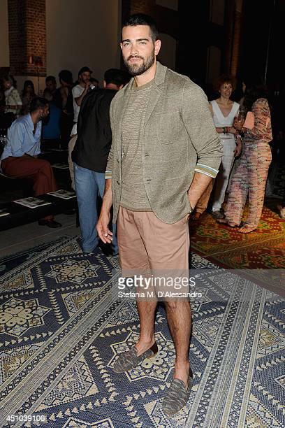 Jesse Metcalfe attends the Misson show during Milan Menswear Fashion Week Spring Summer 2015 on June 22 2014 in Milan Italy