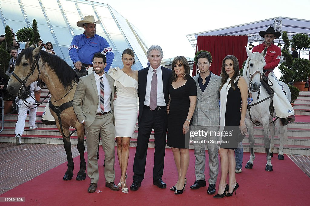 Jesse Metcalfe, Brenda Strong, Patrick Duffy, Linda Gray, Josh Henderson and Julie Gonzalo attend the 'Dallas' photocall during the 53rd Monte-Carlo TV Festival on June 12, 2013 in Monte-Carlo, Monaco.