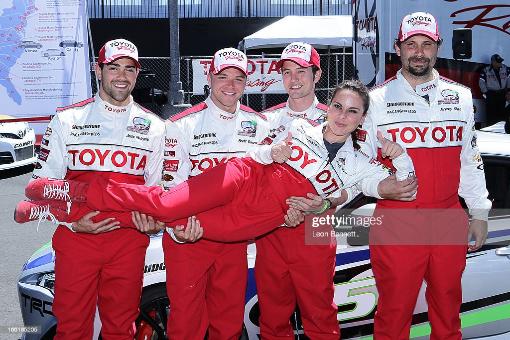 Jesse Metcalfe, Brett Davern, Jackson Rathbone, Jeremy Sisto and Kate del Castillo attend the 2013 Toyota Pro/Celebrity Race - Press Practic Day on April 9, 2013 in Long Beach, California.