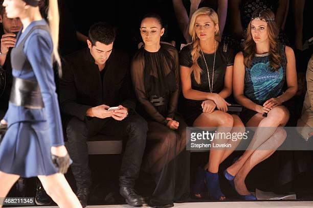 Jesse Metcalfe Cara Santana Cassidy Wolf and Erin Brady attend the Meskita fashion show during MercedesBenz Fashion Week Fall 2014 at The Salon at...