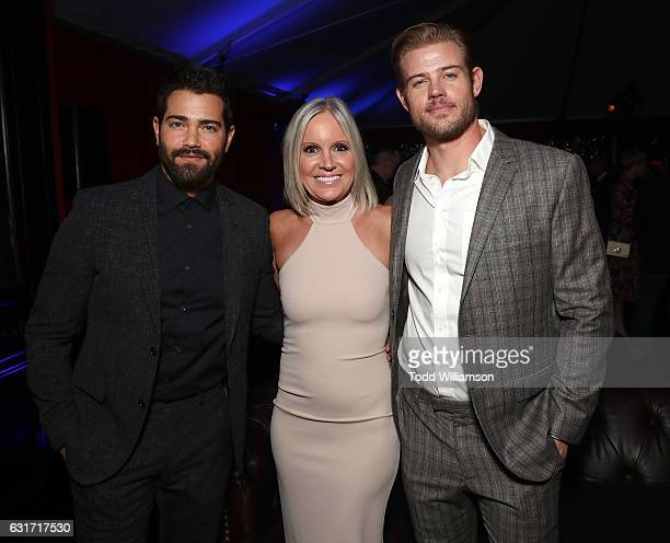 Jesse Metcalfe Hallmark EVP of Programming and Network Publicity Michelle Vicary and Trevor Donovan attend the Hallmark Channel And Hallmark Movies...