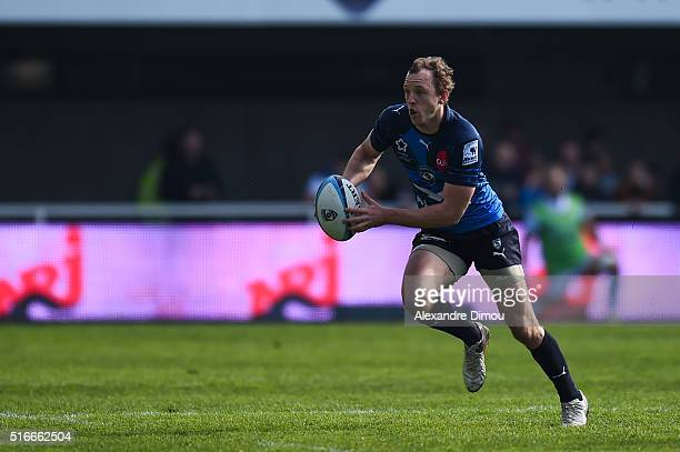 Jesse Mogg of Montpellier during the French Top 14 rugby union match between Montpellier and Racing 92 on March 19 2016 in Montpellier France