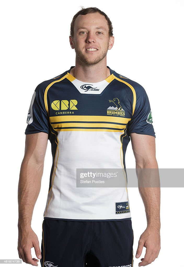 <a gi-track='captionPersonalityLinkClicked' href=/galleries/search?phrase=Jesse+Mogg&family=editorial&specificpeople=8908103 ng-click='$event.stopPropagation()'>Jesse Mogg</a> poses during the ACT Brumbies Super Rugby headshots session on January 21, 2015 in Canberra, Australia.