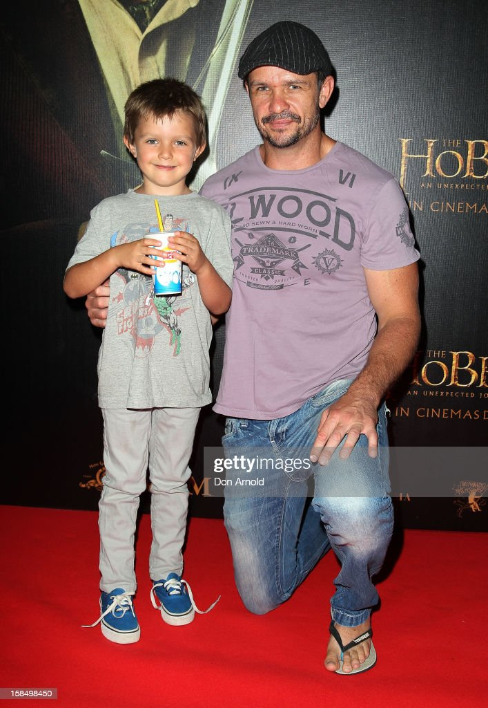 Jesse Nable and Matt Nable attends the Sydney premiere of 'The Hobbit: An Unexpected Journey' at George Street V-Max Cinemas on December 18, 2012 in Sydney, Australia.