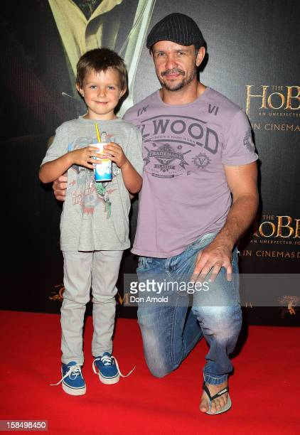 Jesse Nable and Matt Nable attends the Sydney premiere of 'The Hobbit An Unexpected Journey' at George Street VMax Cinemas on December 18 2012 in...