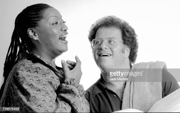 Jesse Norman rehearsing for 'Les Troyens' with Music Director James Levine at the Metropolitan Opera in September 1983 Photo by Jack Mitchell/Getty...