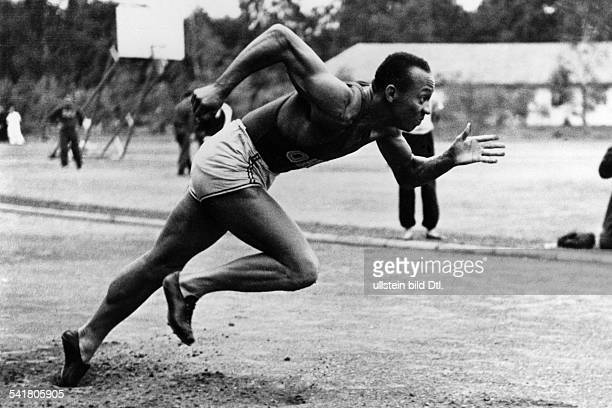 Jesse Owens *USAmerican track and field athletewon 4 gold medals at the Summer Olympics in Berlin in 1936Olympic Summer Games in Berlin in 1936 Jesse...
