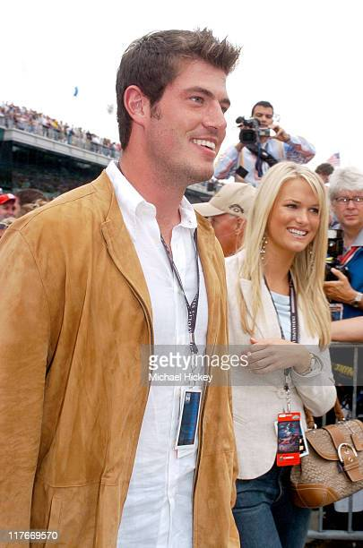 Jesse Palmer and Jessica Bowlin during 88th Indianapolis 500 Celebrity Parade at Indianapolis Motor Speedway in Indianapolis Indiana United States