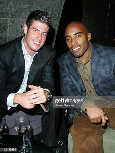 Jesse Palmer and Tiki Barber during St Francis' Big Red Benefit at Gustavino's at Gustavino's in New York City New York United States